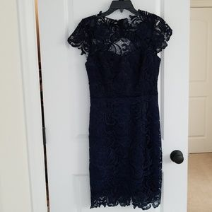 Navy Lace Dress NWT Decode 1.8